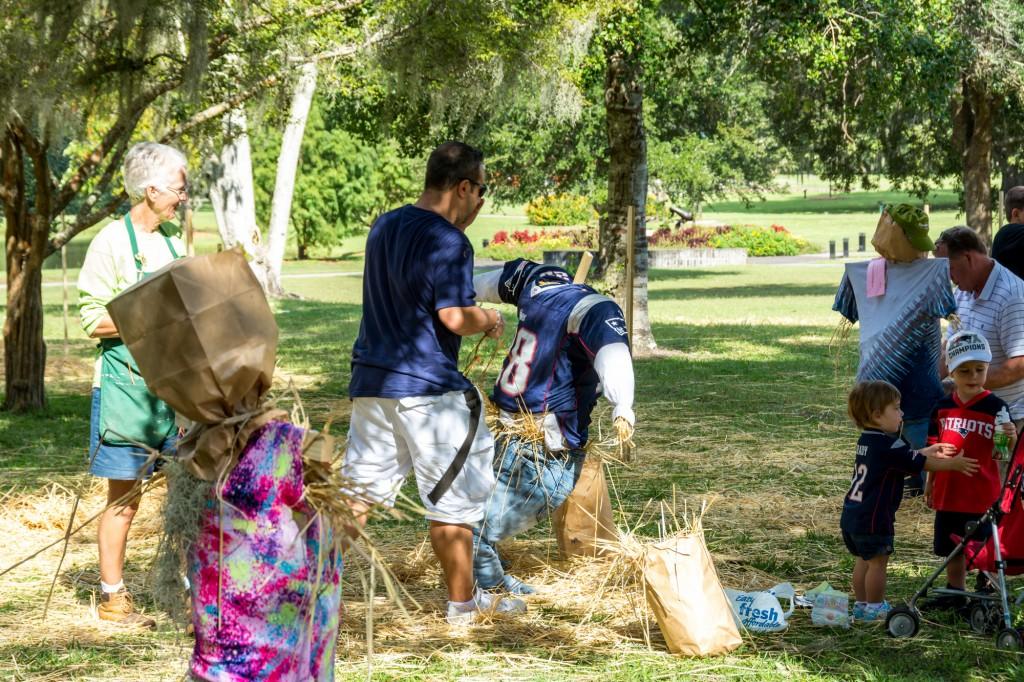 Brookgreen Gardens harvest home festival 2016 scarecrow patriots