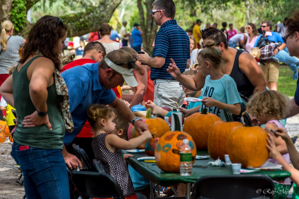 Brookgreen Gardens harvest home festival 2016 Pumpkin painting