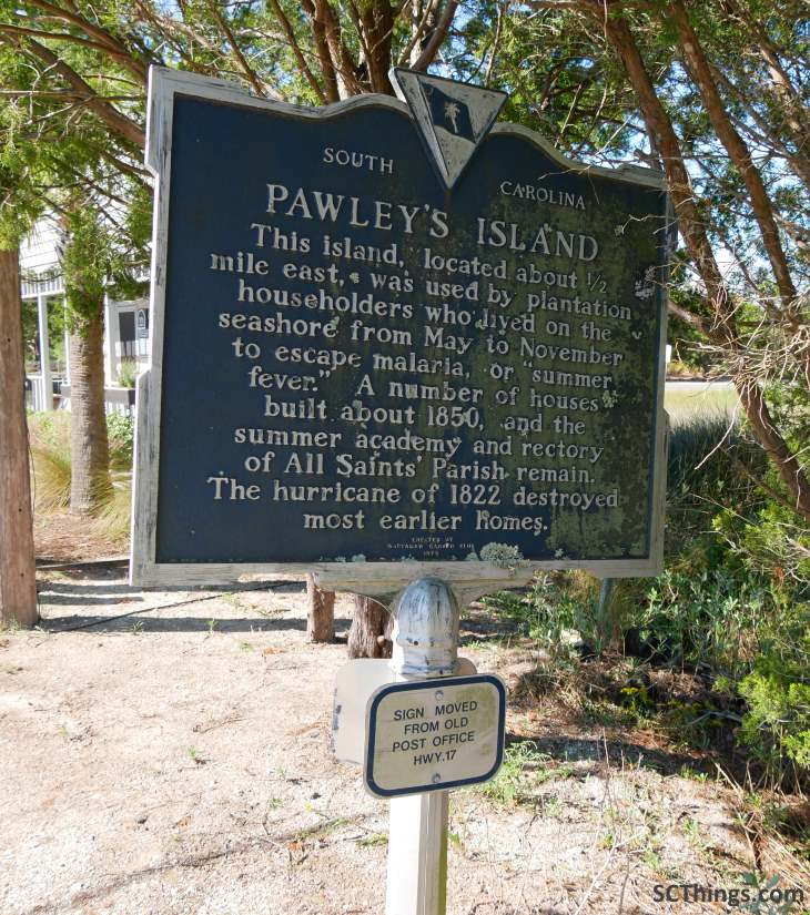 Pawleys Island Historical Marker Front 22-26