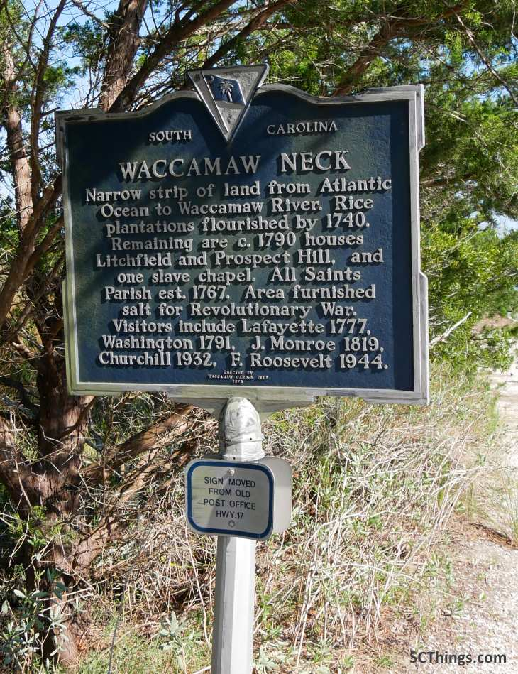 Pawleys Island Historical Marker 22-26 back